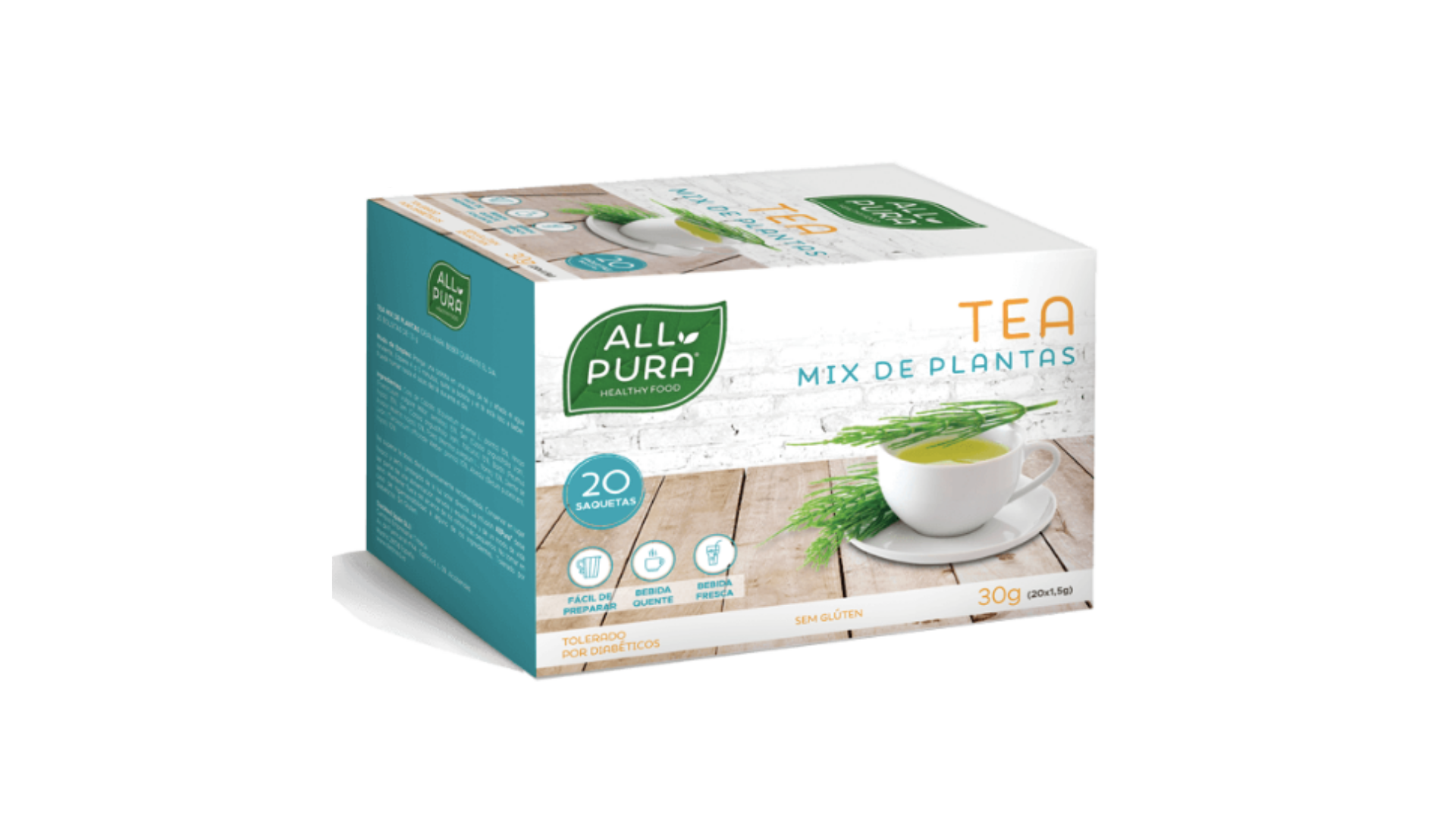 ALLPURA | Tea Mix Plantas 20 saquetas