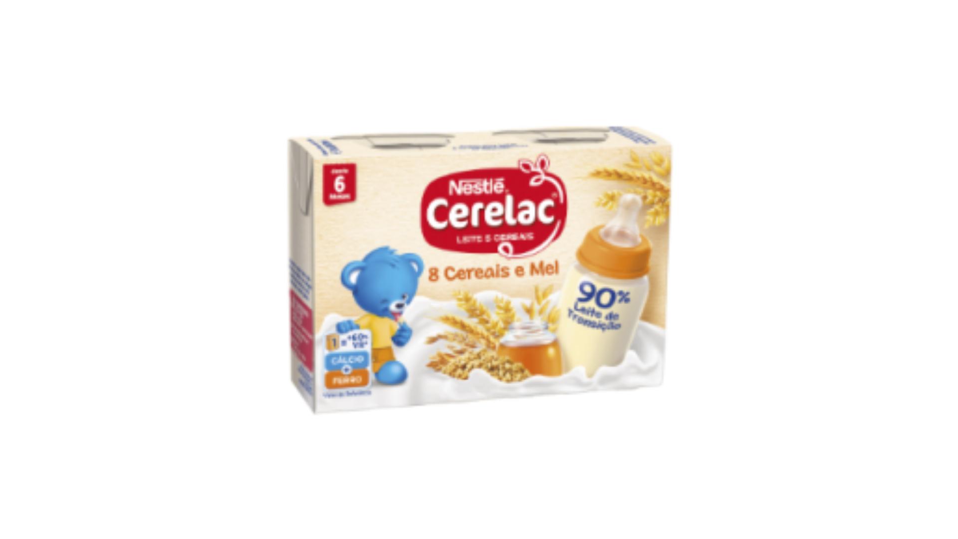 Cerelac | Leite e Cereais 8 Cereais e Mel 2x200ml