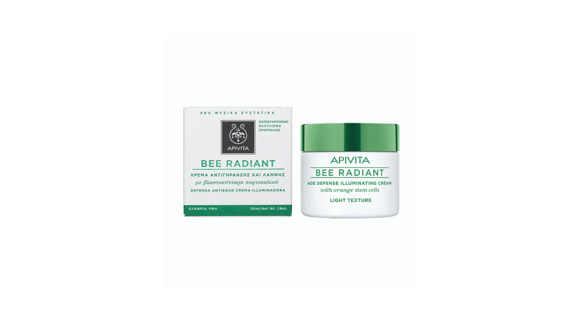 Apivita | Bee Radiant Creme Iluminador Textura Ligeira 50ml