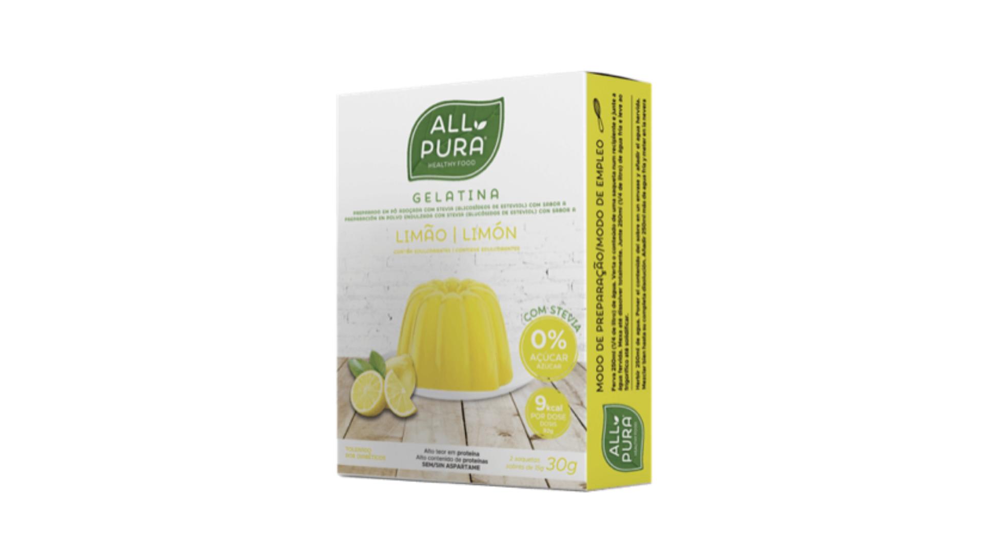 ALLPURA | Gelatina Stevia Limão