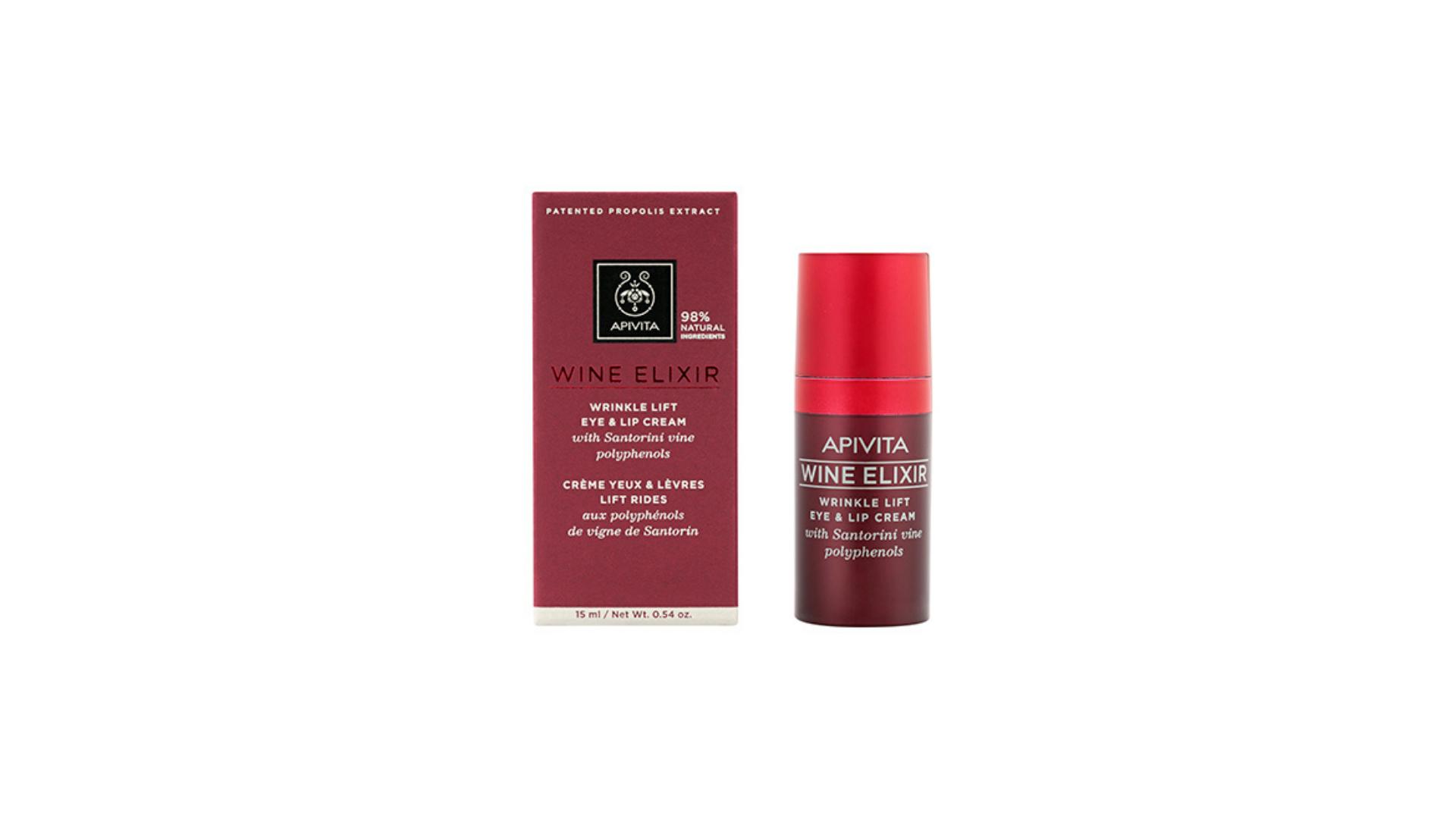 Apivita   Wine Elixir Creme de Olhos e Lábios Antirrugas e Lifting 15ml