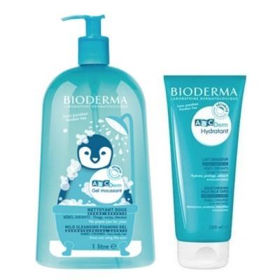 Bioderma | ABCDerm Gel Moussant 1000ml + Oferta ABCDerm Leite Hidratante 200ml