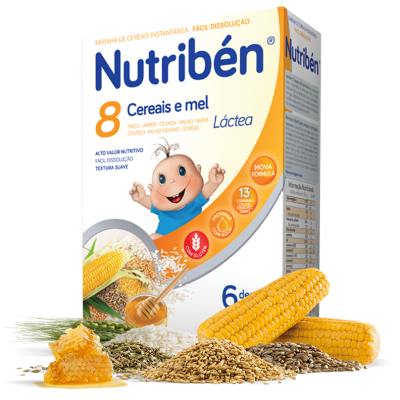 Nutribén | 8 Cereais e Mel 600g