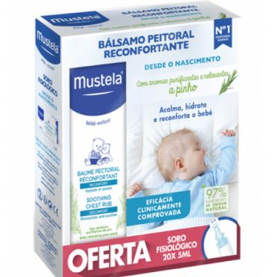 Mustela | Bálsamo Reconfortante 40ml + Oferta Soro Fisiológico 20 x 5ml