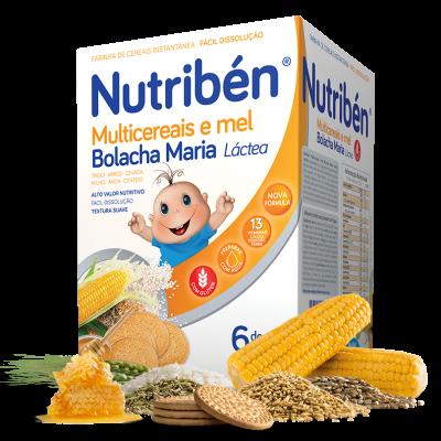 Nutribén | Multicereais e Mel Bolacha Maria 600g