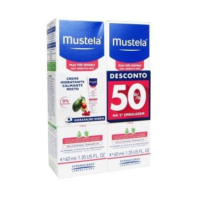 Mustela | Creme Hidratante Calmante de Rosto 40ml (Pack 50% 2ª Embalagem)