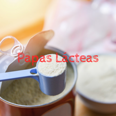 Papas Lácteas (preparar com água)