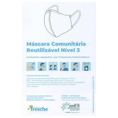 Máscara Comunitária Reutilizável Nível 3