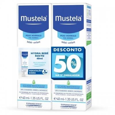 Mustela | Creme Rosto Hydra Bébé 40ml (Pack 50% 2ª Embalagem)