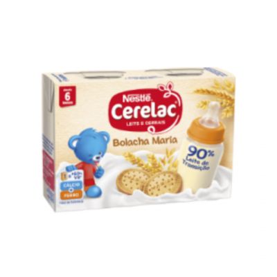 Cerelac | Leite e Cereais Bolacha Maria 2x200ml