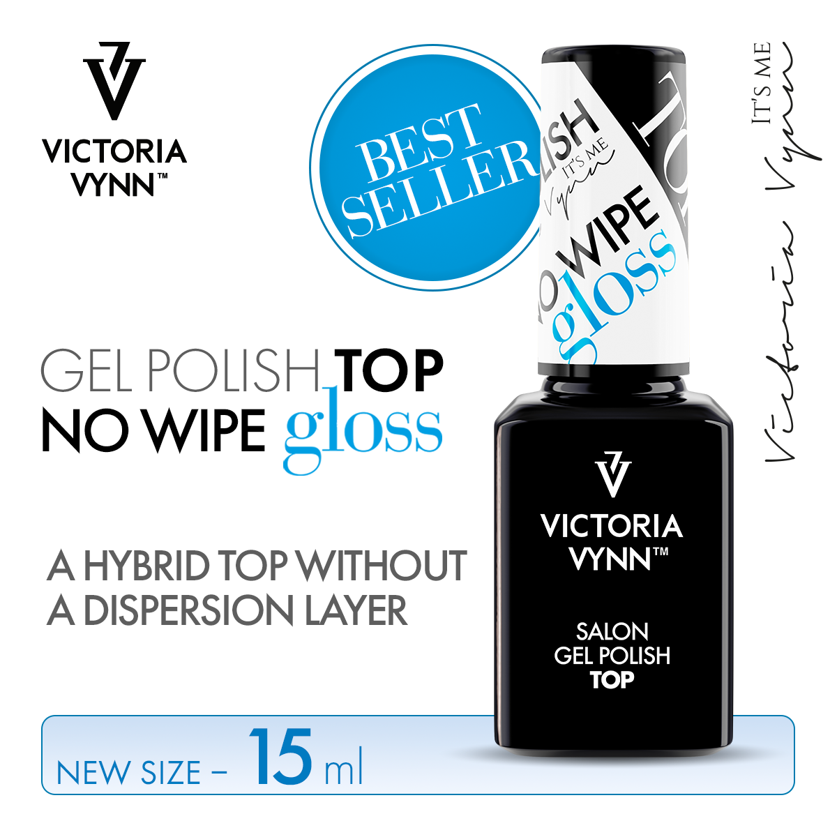 Top No Wipe Gloss Victoria Vynn 15ml