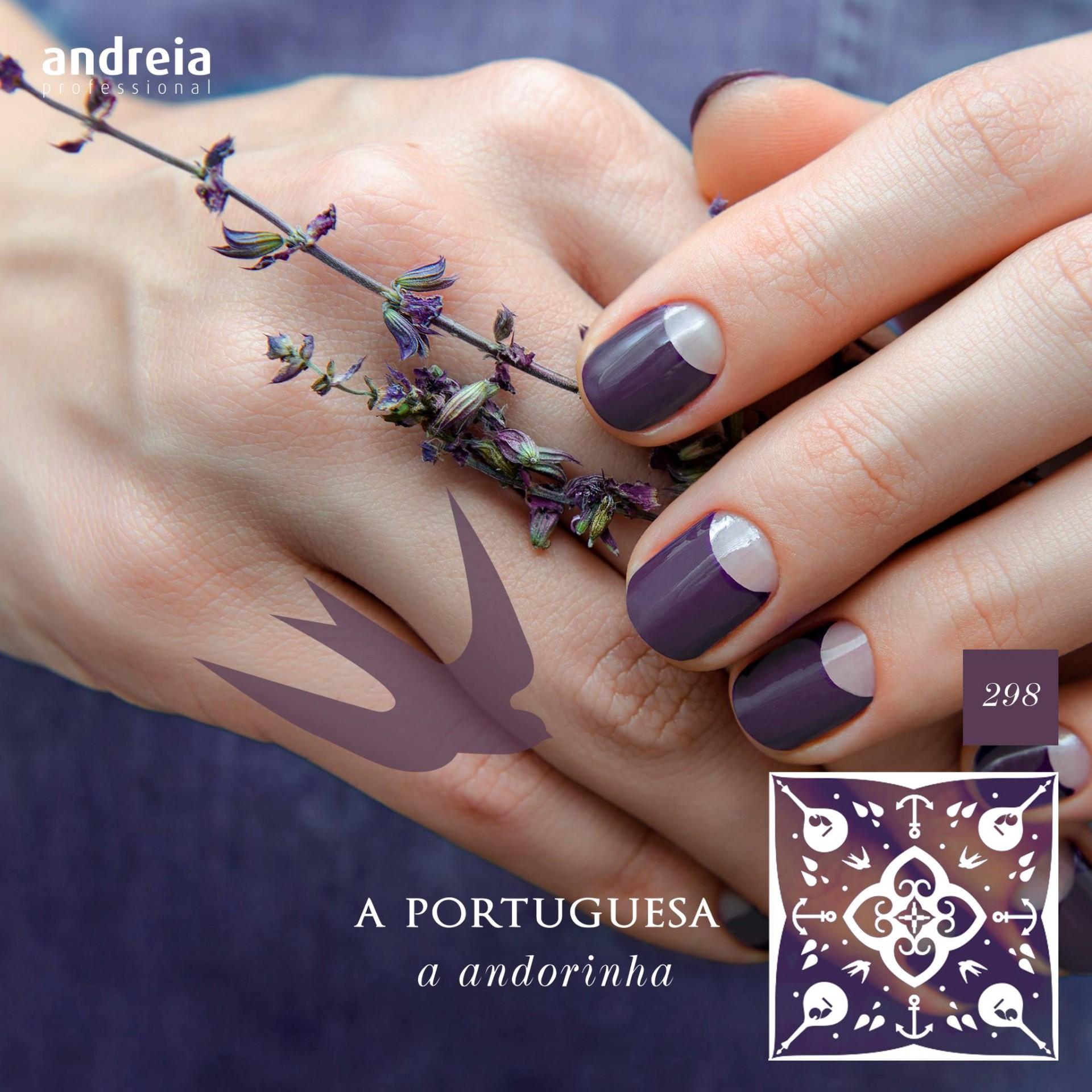 Verniz Gel Andreia 298 – A andorinha (lilás)