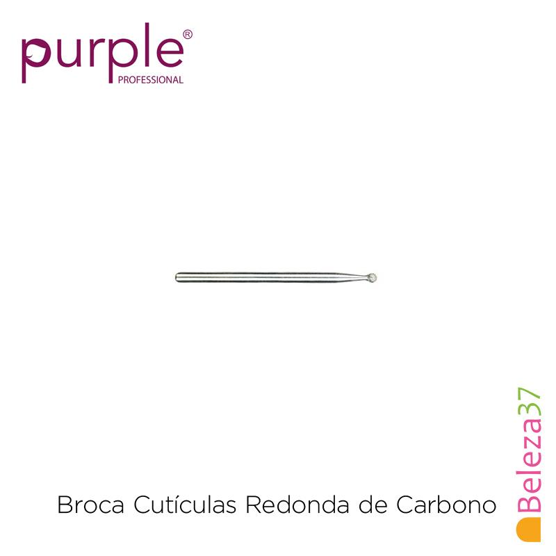 Broca de Carbono Redonda de Cutículas PURPLE