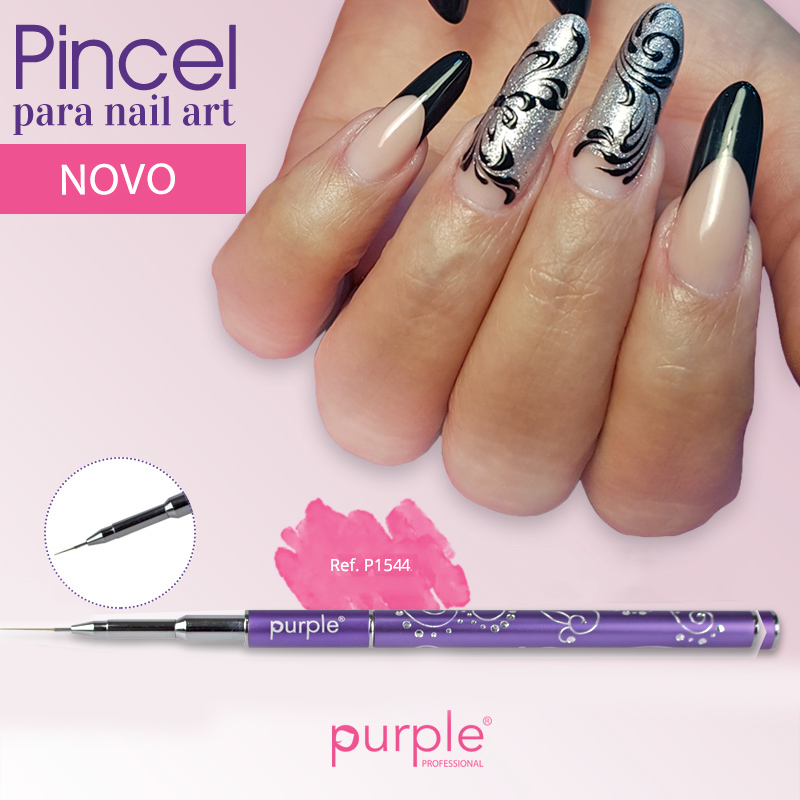 Pincel Nylon Nail Art Purple #000