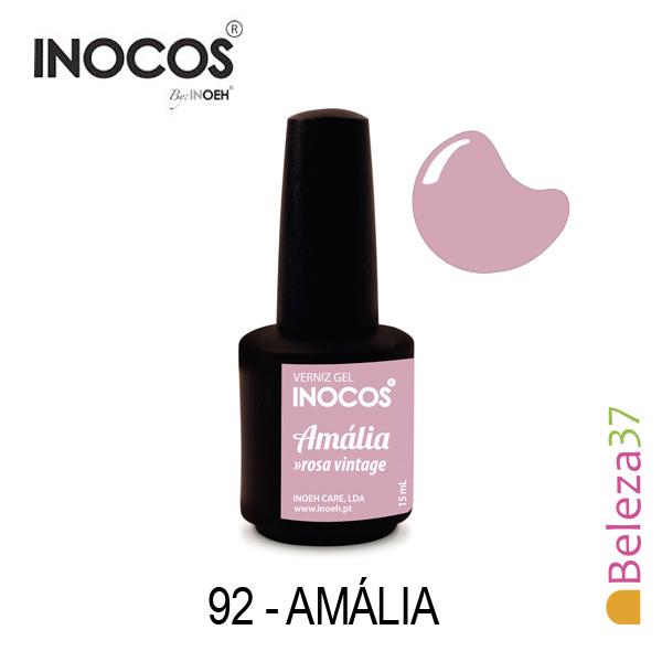 Verniz Gel Inocos 92 — Amália (Rosa Vintage)