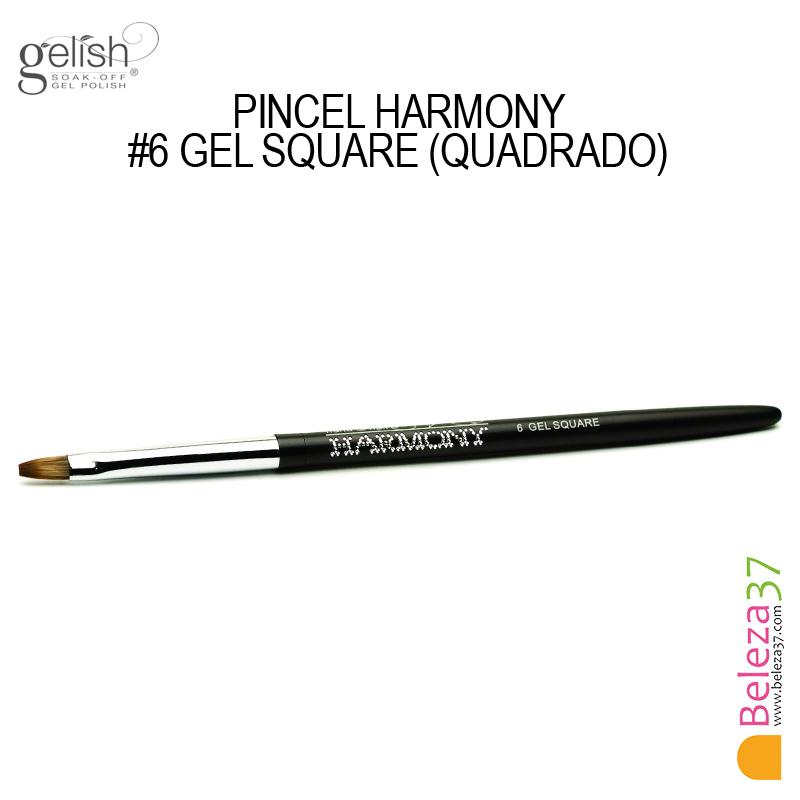 Pincel Harmony - #6 GEL SQUARE (Quadrado)