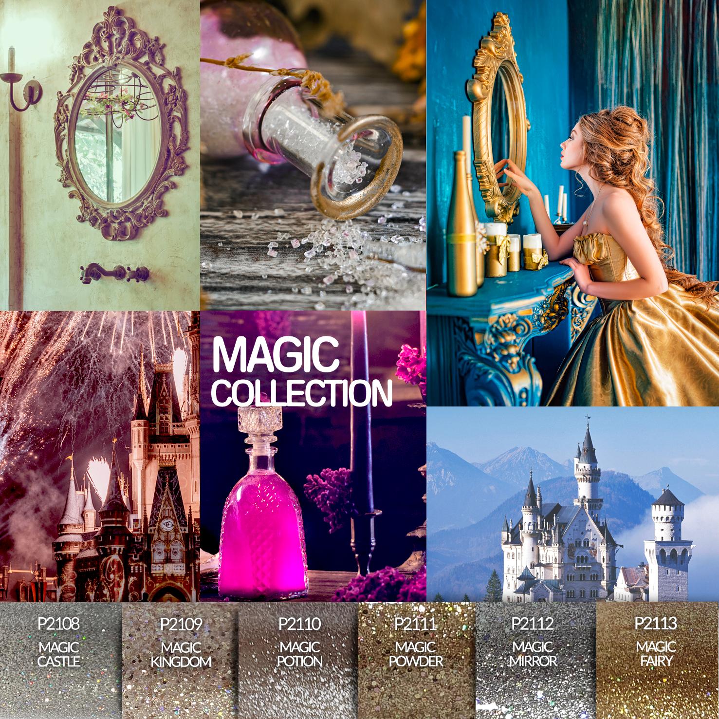 Coleção Verniz Gel PURPLE – Magic Collection - 6 Cores (P2108 ao P2113)