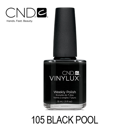 CND Vinylux – #105 Black Pool (Preto)