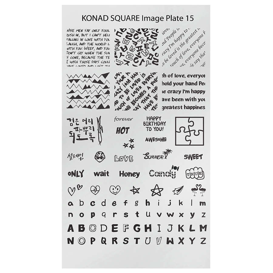 Chapa Retangular KONAD 15