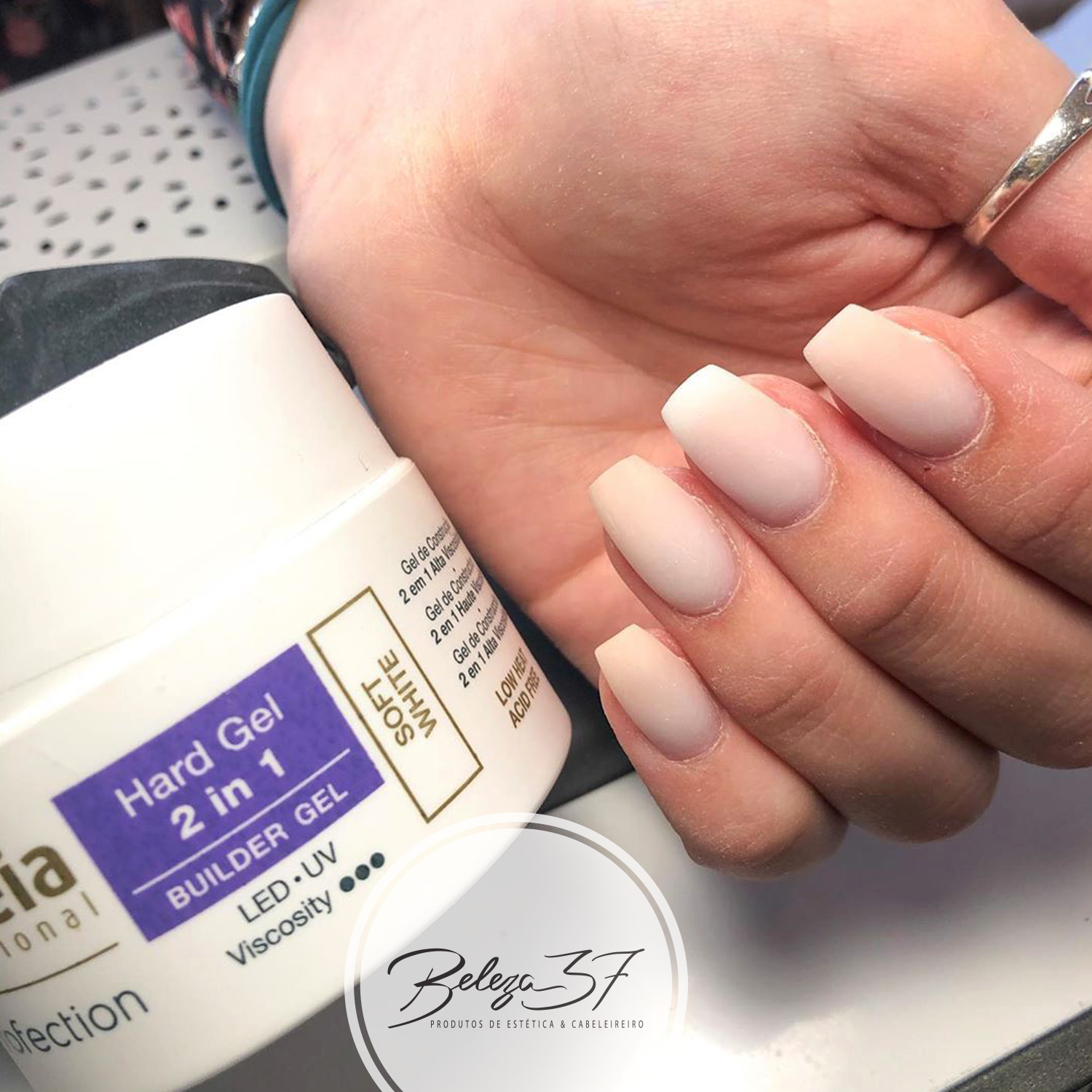 Hard Gel 2 em 1 Andreia Profection - Soft White 44g
