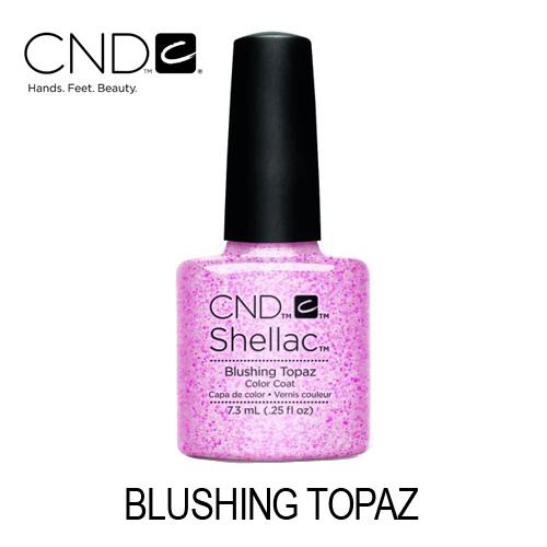 CND Shellac – Blushing Topaz (Rosa Claro com Glitter)