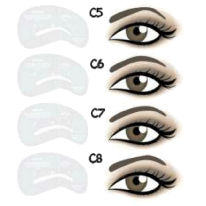 Moldes para Desenho de Sobrancelhas: C5–C8