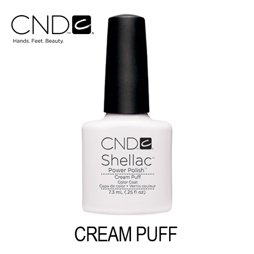 CND Shellac – Cream Puff (Branco Opaco)
