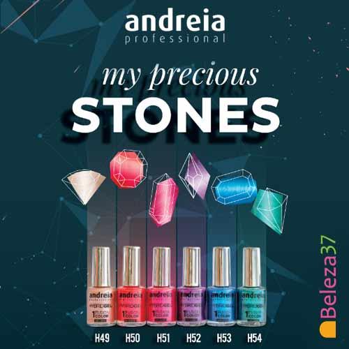 """HYBRID GEL ANDREIA – 6 Cores da Coleção """"My Precious Stones"""""""