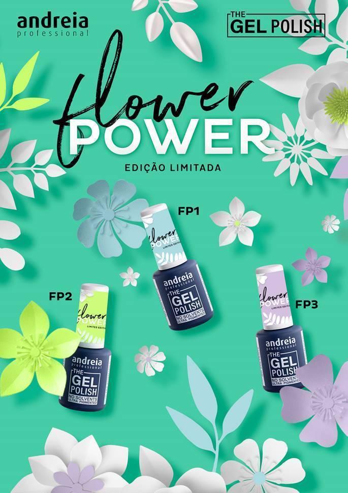 """The Gel Polish Andreia - Coleção 3 cores """"Flower Power"""""""