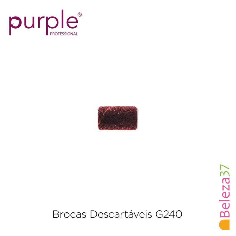Brocas Descartáveis PURPLE Grão Fino 240 - 100 unidades