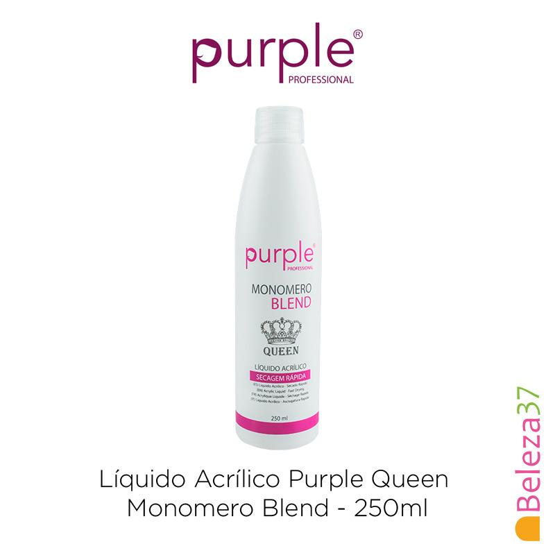 Líquido Acrílico Purple Queen 250ml - Monomero Blend (Secagem Rápida)