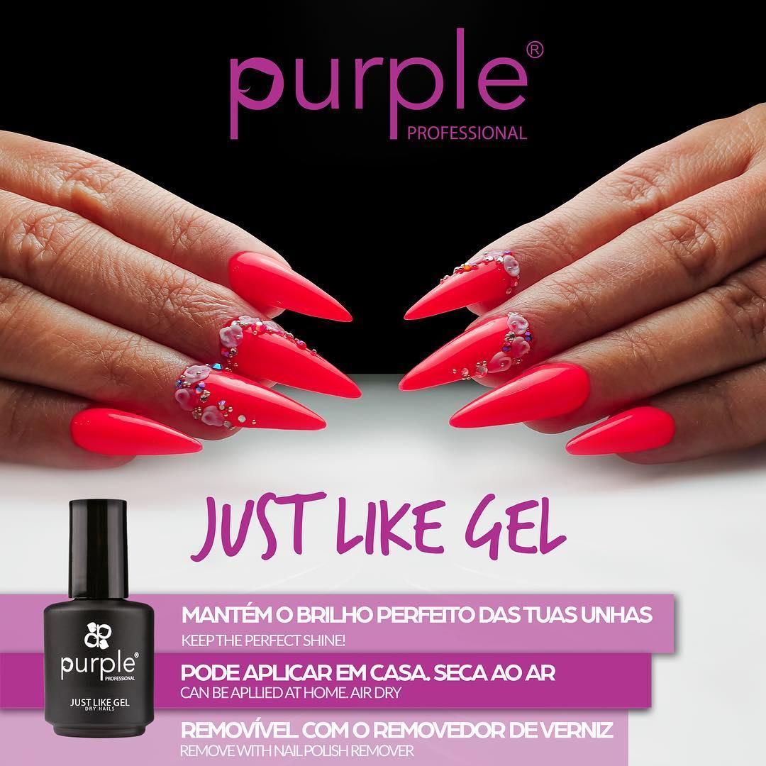 Just Like Gel Purple 15ml - Finalizante de Verniz