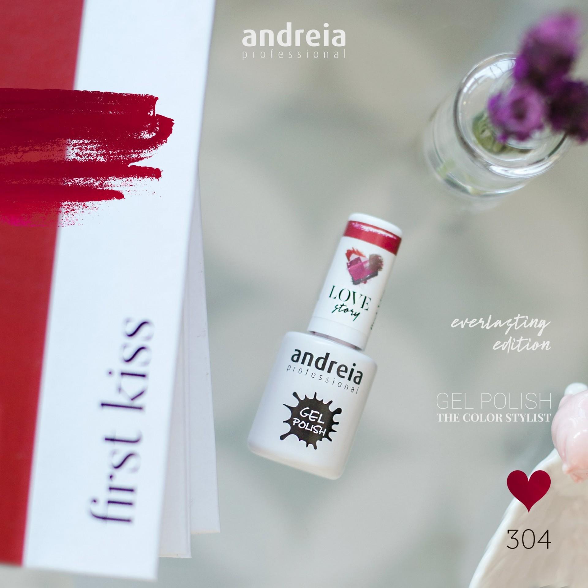 Verniz Gel Andreia 304 - First Kiss - Vermelho Coração