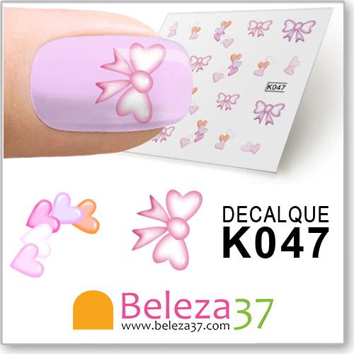Decalques dos Laços Cor-de-Rosa (K047)