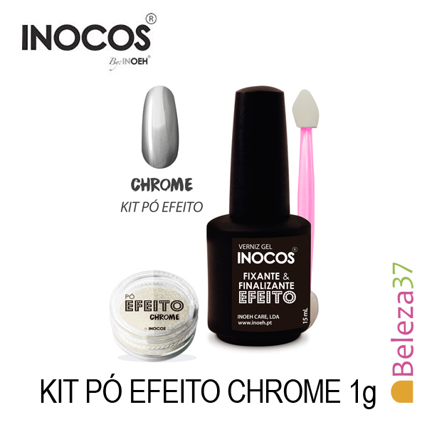 Inocos — Kit Pó Efeito Chrome 1g