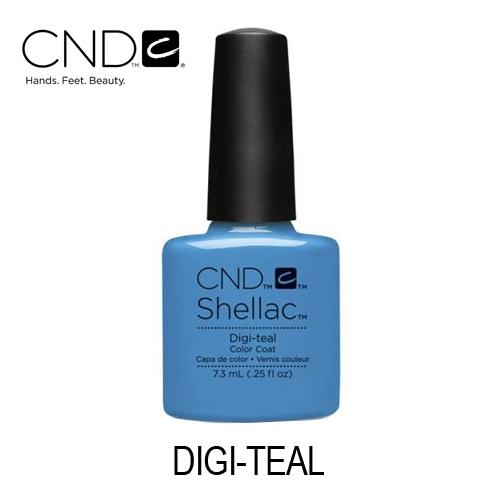 CND Shellac – Digi-teal