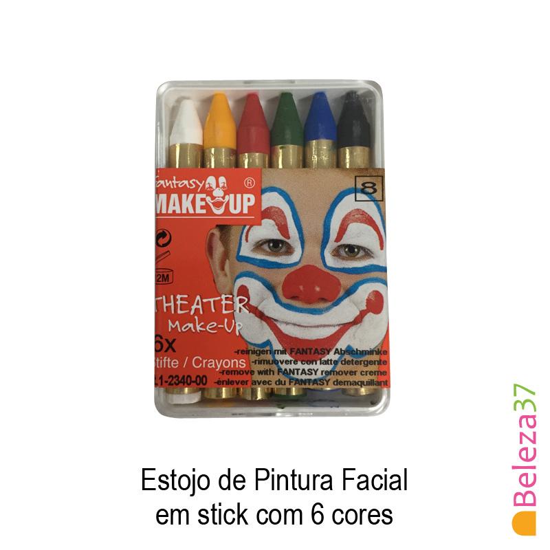 Estojo de Pintura Facial em stick com 6 cores