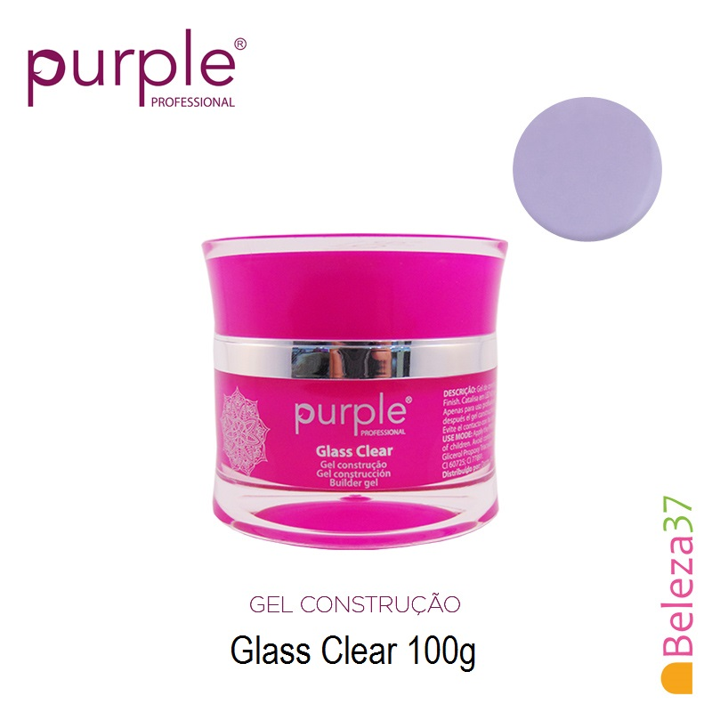 Gel Construtor Purple Glass Clear – Transparente 100g