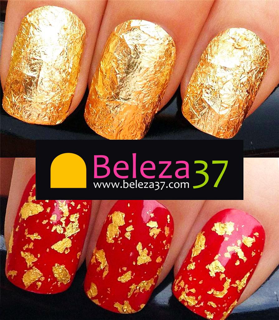 Folha Metálica para Nail Art