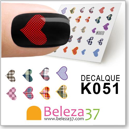 Decalques Corações (K051)