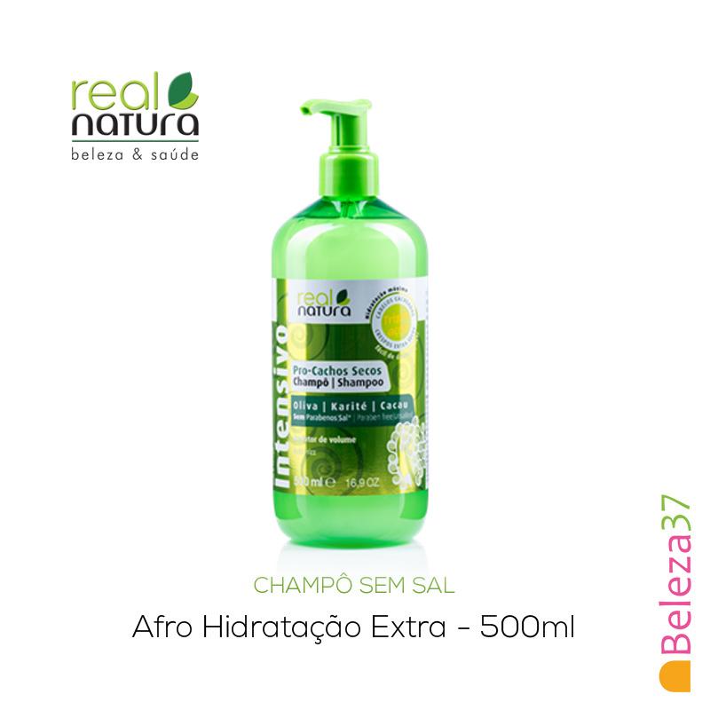 Champô Sem Sal Real Natura – Afro Hidratação Extra 500ml