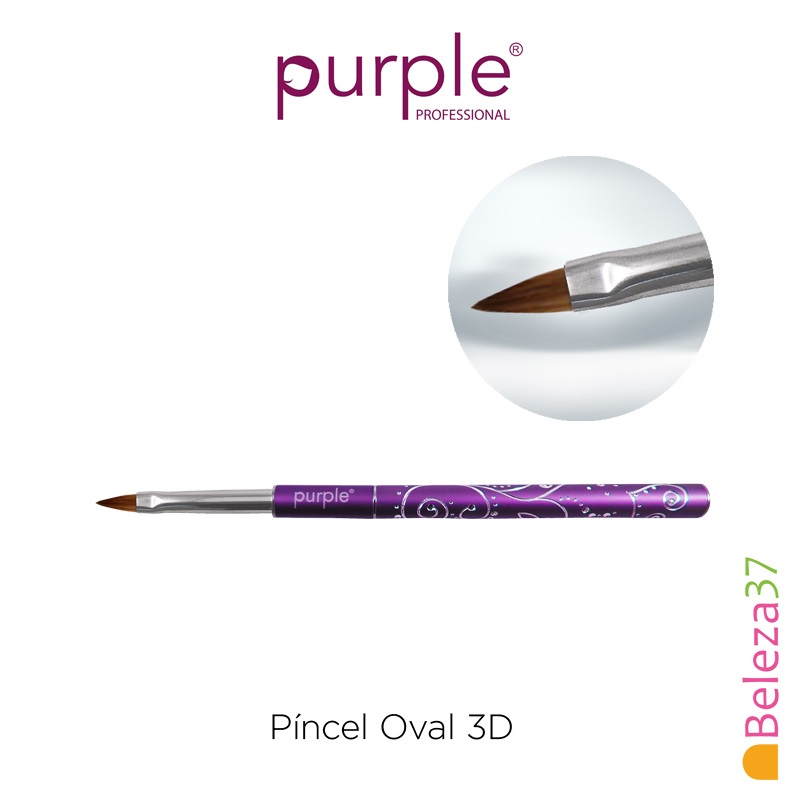 Píncel Oval 3D #4 Decorado