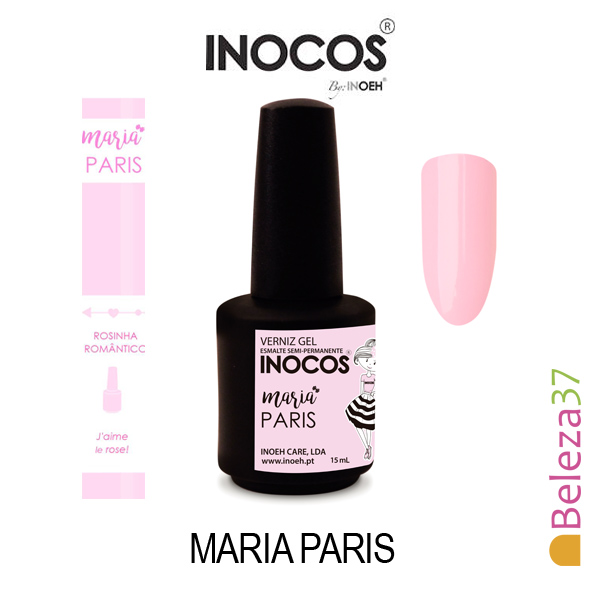 Verniz Gel Inocos 123 — Maria Paris (Rosinha Romântico)