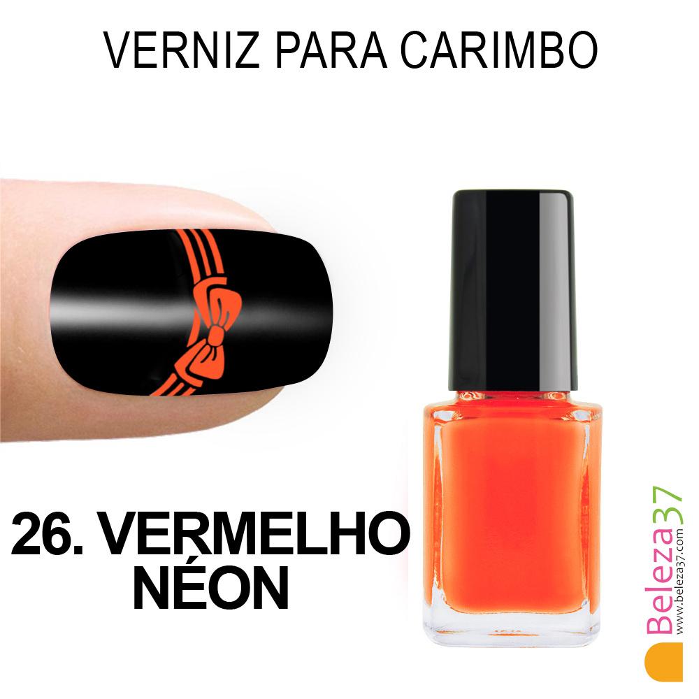 Verniz para Carimbo - 26. VERMELHO NÉON