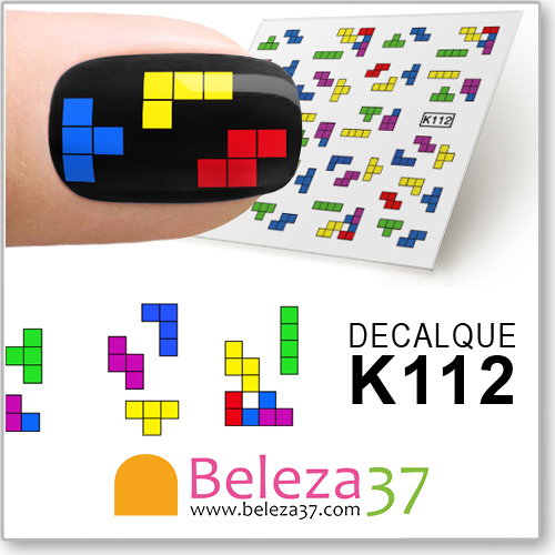 Decalques Peças Tetris (K112)