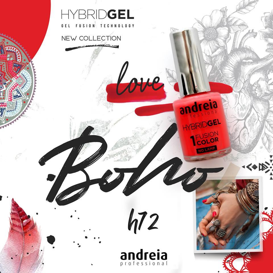 HYBRID GEL ANDREIA – Fusion Color H72 - Love (Vermelho Coração)