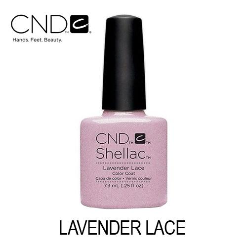 CND Shellac – Lavender Lace (Lavanda Pastel com Brilhos Prateados)