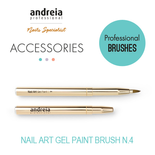 Pincel Nail Art Gel Paint Andreia n.º 4