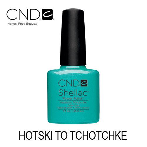 CND Shellac – Hotski to Tchotchke (Verde Azulado)