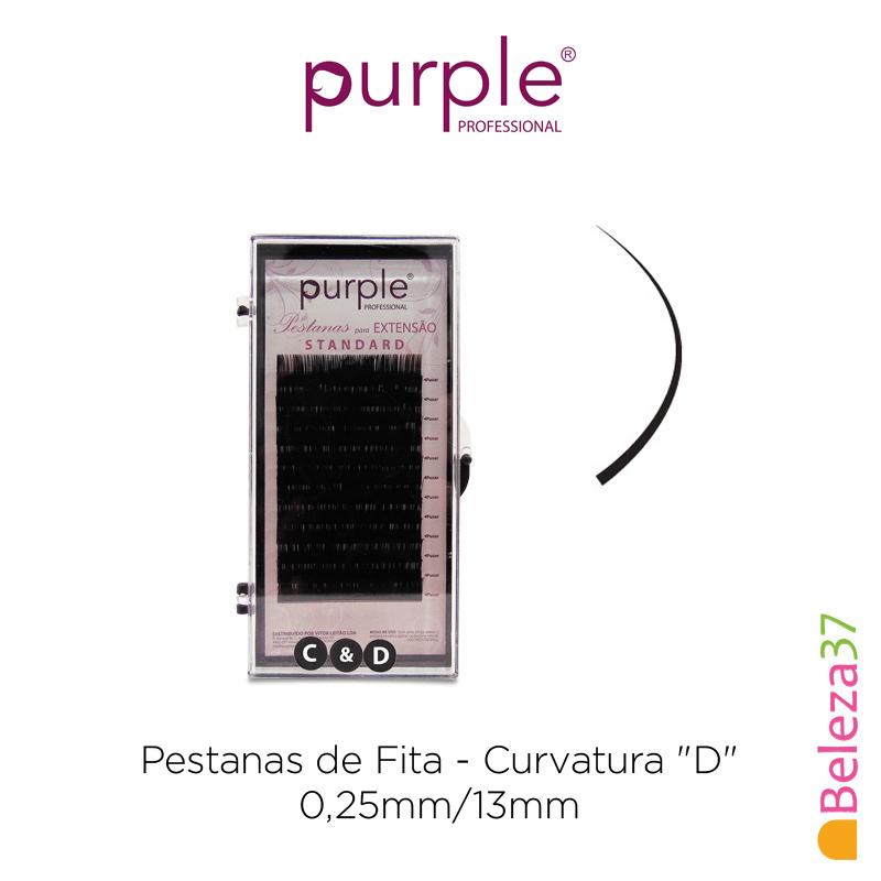 "Pestanas de Fita PURPLE - Curvatura ""D"" - 0,25mm/13mm"